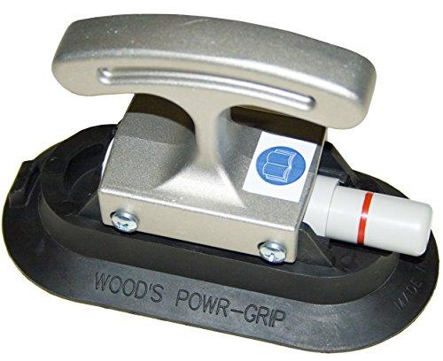 3 x 6 Woods Powr-Grip RF36HG Vacuum Suction Cup w Aluminum Handi-Grip Handle 40 lbs Capacity