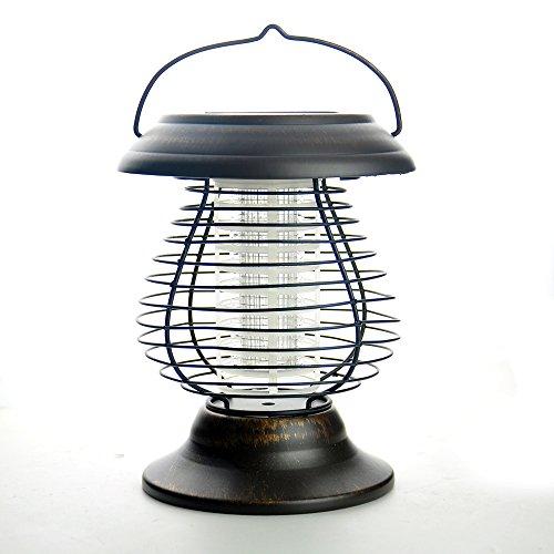 HKSL LED Solar Mosquito Fly Bug Zapper Pest LampLawn LightGarden Lantern Landscape Yard Pathway Outdoor Light Camping Light