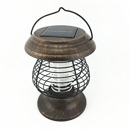 Solar Powered UV Bug Zapper Insect Killer LED Garden Lamp Mosquito Killer camping light