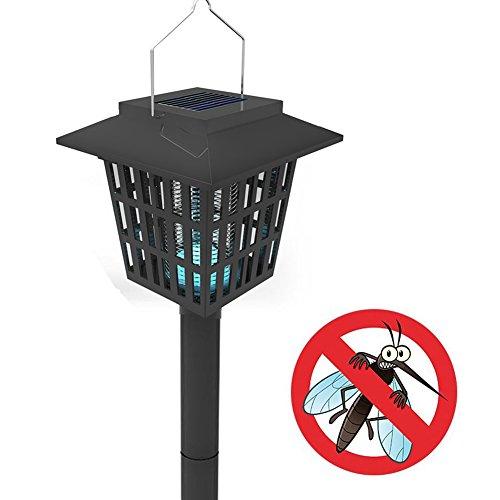 Uopasd Electronic Insect Killer Outdoor Bug Zapper Led Solar Mosquito Killer
