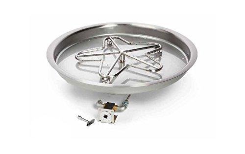 Hearth Products Controls PENTA31MLFPK-FLEX-NG Match Light Natural Gas Fire Pit Kit 31-Inch Bowl Pan