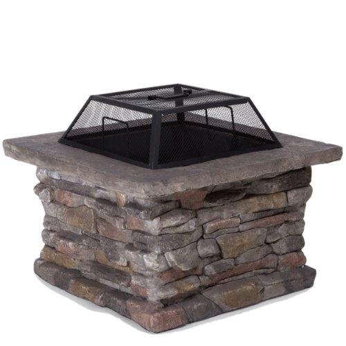 Tundra Square Natural Stone Finish Fire Pit