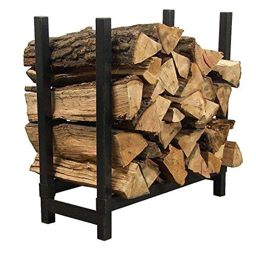 Sunnydaze 2-Foot IndoorOutdoor Firewood Log Rack