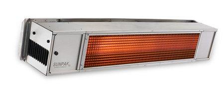 Sunpak S25S 25000 BTU Hanging Patio Heater - Stainless Steel - Propane Gas LP - No Fascia Kit - Plus Free Sunpak eGuide