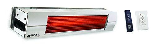 Sunpak S25S 25000 BTU Hanging Patio Heater - Stainless Steel - Propane Gas LP - Stainless Steel Front Fascia Kit - Plus Free Sunpak eGuide