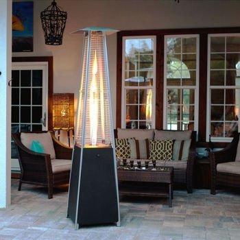 Fire Sense Resort Model 40000 BTU Glass Tube Pyramid Style Flame Patio Heater in Rich-Mocha Finish