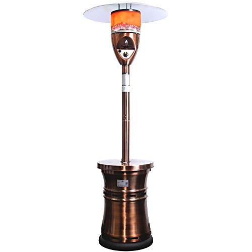 Lava Heat Italia Alto Liquid Propane Gas Patio Heater Brushed Copper