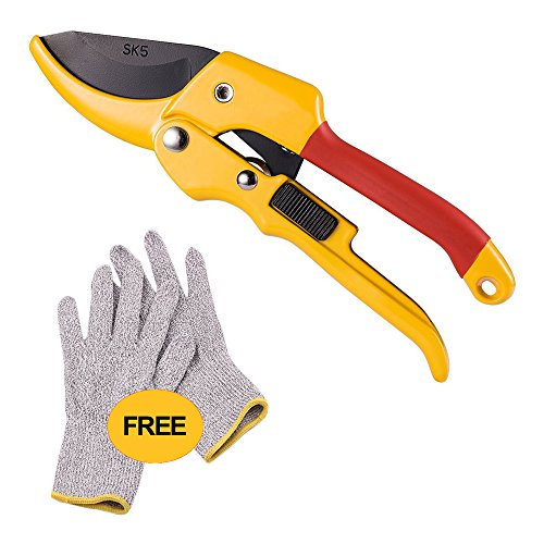 Imeek Pruning Shears - Garden Scissors With Carbon Stainless Steel Sharp Blade - Labour Saving Hand Pruner With