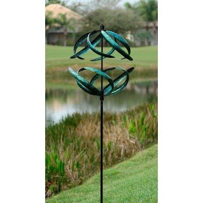 Marshall Home And Garden Sphere Wind Spinner Blue