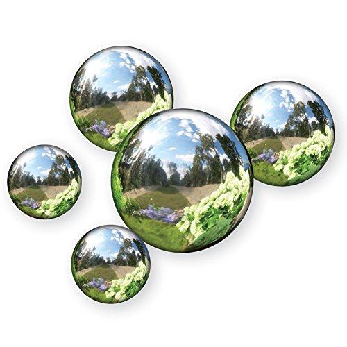 Reflective Garden Spheres - Set Of 5