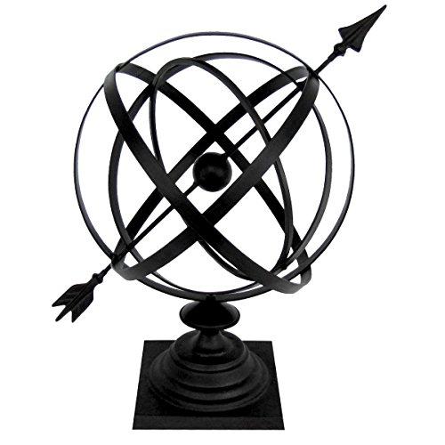 Sundial Cast Iron 24&quot Armillary Arrow Sphere Garden Decor