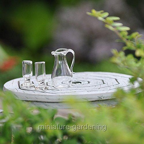 Miniature Fairy Garden Glass Drink Set
