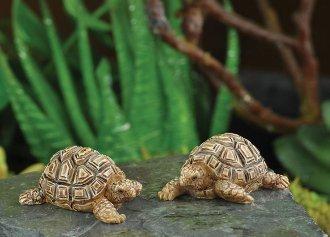 The Fiddlehead Fairy Garden Tortoise Pair Miniature Fairy Garden Accessories 16868
