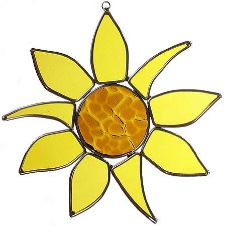 Sunflower Art Glass Sun Catcher