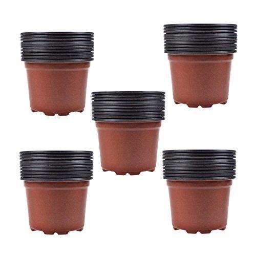 Coolrunner 45 Inch Plastic Flower Seedlings Nursery Potpots 50pcs