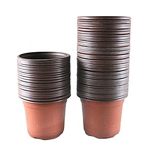 Truedays&reg 4&quot Plastic Flower Seedlings Nursery Potpots  100 Pack