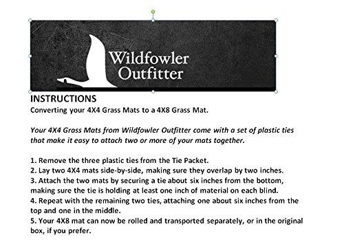 Wildfowler Natural Grass Mat Hay 4 x 8 Feet Conversion