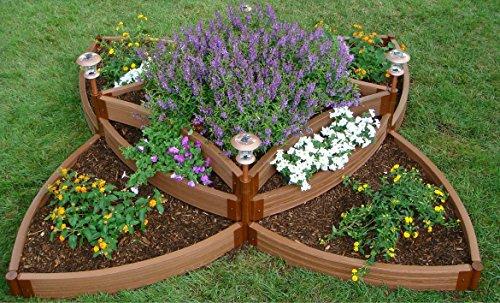 Frame It All FBPS9 One Inch Series Composite Versailles Sunburst Raised Garden Bed Kit 96 x 96 x 165