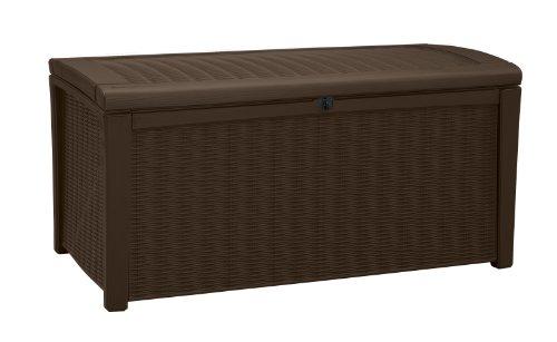 Keter Plastic Deck Storage Container Box Outdoor Patio Garden Furniture 110 Gal Brown