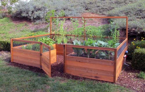 Fenced Raised Garden Bed Kit - 8x12