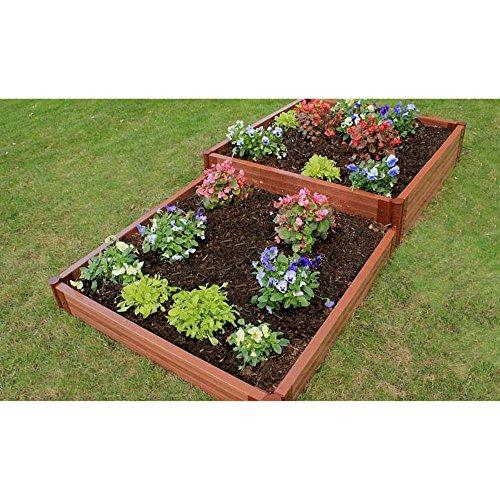 Frame It All 2-inch Series Composite Terraced Multi-level Raised Garden Bed Kit - 4ft x 8ft x 11in