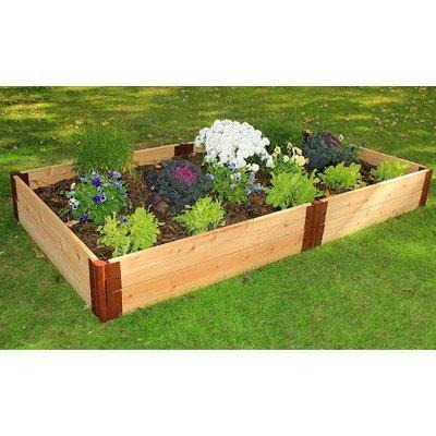 Frame It All Two Inch Series Cedar Raised Garden Bed Kit 4 x 8 x 12