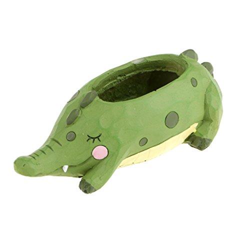 Resin Crocodile Flower Pot Sedum Succulent Herb Planter Bed Pot Box Case Kids Room Cafe Decor