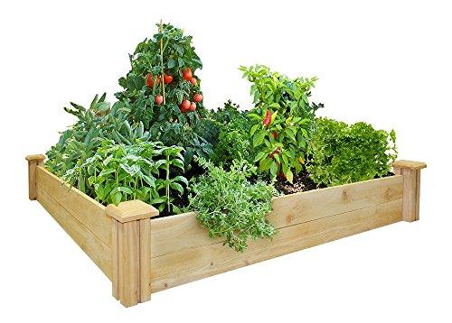 Greenes Fence 48-inch X 48-inch Cedar Raised Garden Bed