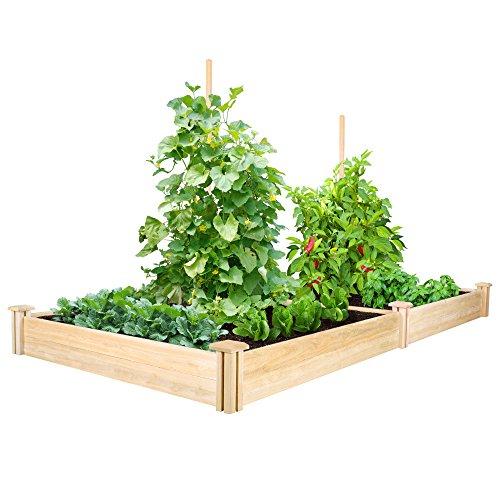 Greenes Fence Cedar Raised Garden Kit 4 Ft X 8 Ft X 7 In