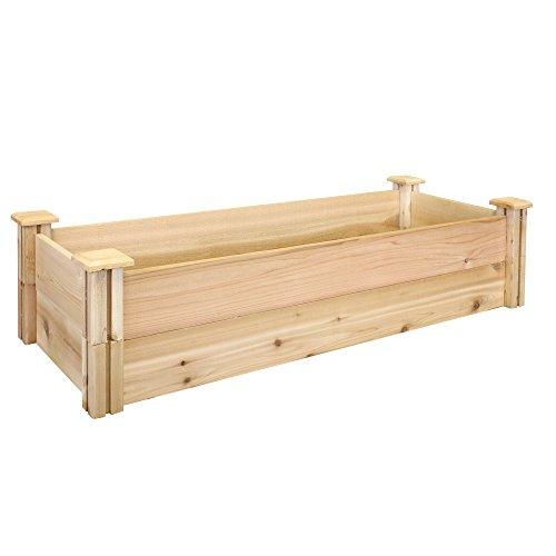 Greenes Fence Premium Cedar Raised Garden Bed 16 x 48 x 11