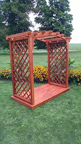 A L Furniture 6 Jamesport Cedar Arbor Deck Walk Thru 72W x 40D x 81H Outside 87W x 47D x 90H Redwood