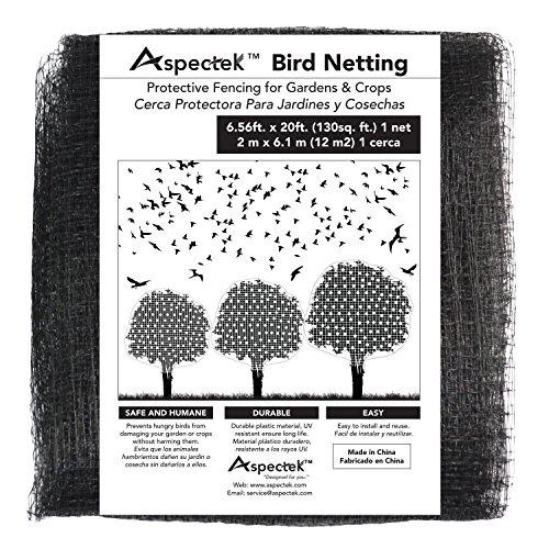 Bird Netting Protective Fencing for Gardens and Crops 7 X 20 Feet Netting Bird Block Garden Fence