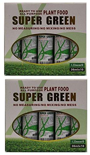 Kl Designamp Import - 20 Bottles Of Super Green Green Lucky Bamboo Fertilizer Plant Food new