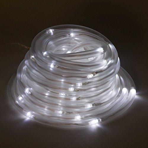 Julyfire White 33 Ft Length 100 Led Led Solar Outdoor Rope Lights Waterproof With Light Sensor For Pond
