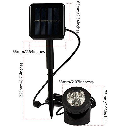 Laputa Waterproof Solar Powered Led Spotlightwaterproof Available For Outdoor Garden Pool Pond Spot Lamp Light