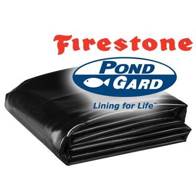 25 x 200 Firestone PondGard 45 Mil EPDM Pond Liner Fish Safe