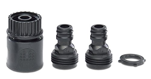 Premium 4 Piece Soft-Touch Water Hose Quick Connector Expansion Set- Male Female Adapters Included - Durable Designs for Faucets Spigots Sprinklers Nozzles Tools Garden Hoses Black