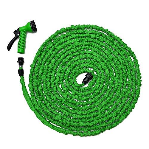 Expandable Garden Hose 100ft Pocket Flexible Green Water Hose with Spray Nozzle