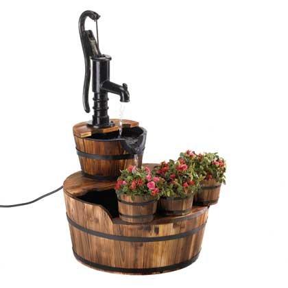 Pump Barrel Fountain and Planter