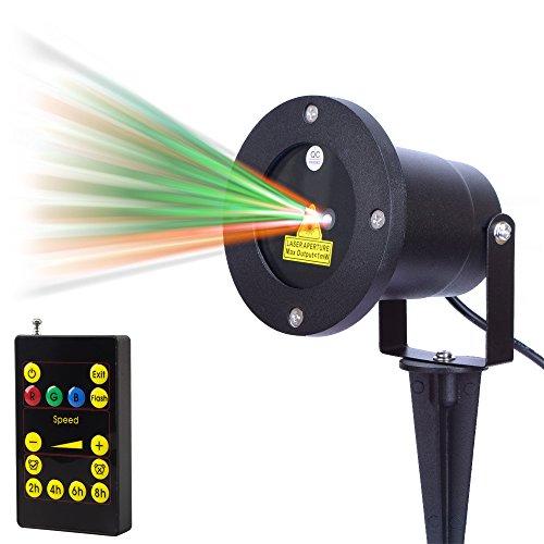 Zitrades Patio Lights Laser Christmas Light Stars Projector Red Green Landscape Spotlight Outdoor Lighting Ip65