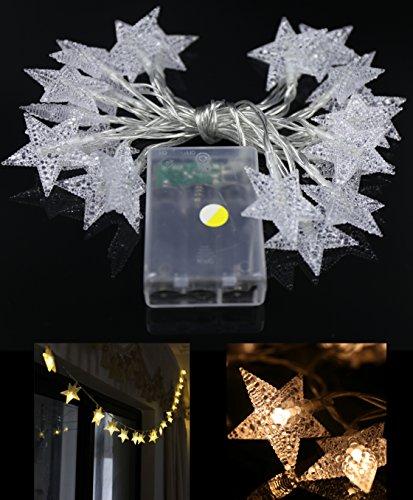 YeMarket LED Star Light Fairy String Light 2m66ft 20LEDs for Christmas XMAX Weddings Family Festival School PartyWarm White