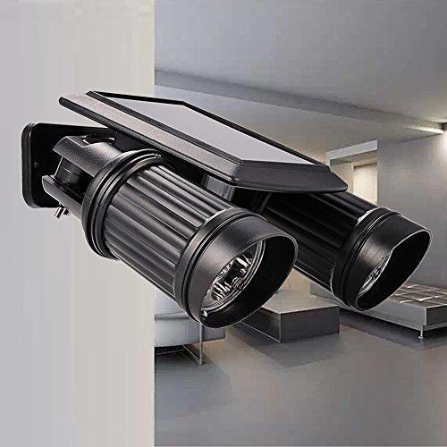 Solar Lights Wall Light Adjustable Dual Head Spotlight Waterproof 14 LED with PIR Motion Sensor