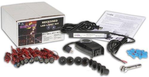 DEKOR Recessed LED Stair Light 8-Light Outdoor Deck Lighting Kit Black