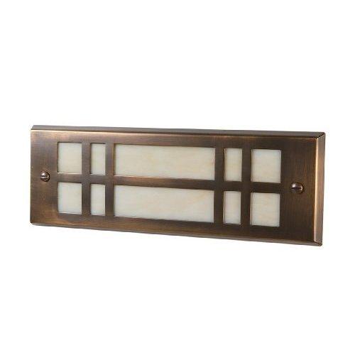 Highpoint Deck Lighting HP-772R-MBR Red Rocks 12-Volt Artistic Brick Recessed Outdoor Deck and Step Light Fixture Antique Brass