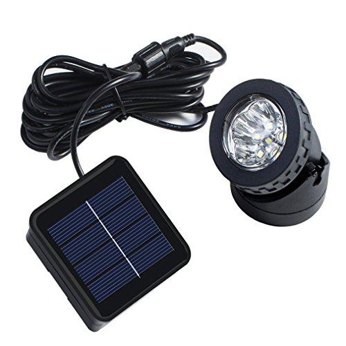 Rockbirds Solar Powered Led Spotlight Waterproof Available For Outdoor Garden Pool Pond Spot Lamp Light Dusk