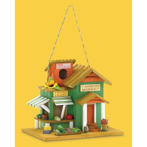 koehler Home Decor Outdoor Garden Accent Farmers Market Bird House