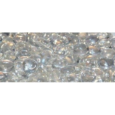 American Fireglass Fire Beads Fireplace Glass and Fire Pit Glass 10-Pound Glacier Ice