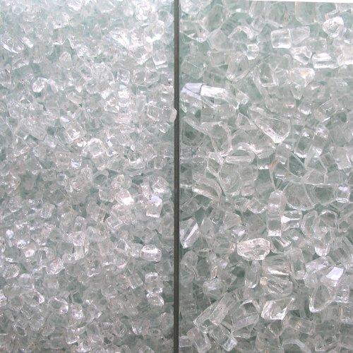 Fire Glass Clear With Slight Aqua Tint 2 Kinds Mediumamp Extra Large 50 Lbs