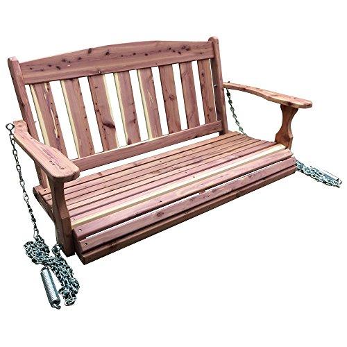AmeriHome USA Amish Made Cedar Porch Swing