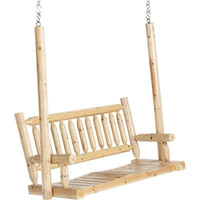 Deluxe Cedar Log Porch Swing